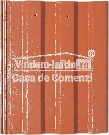 Tigla de beton 1/1 Bramac Markant rosu caramiziu