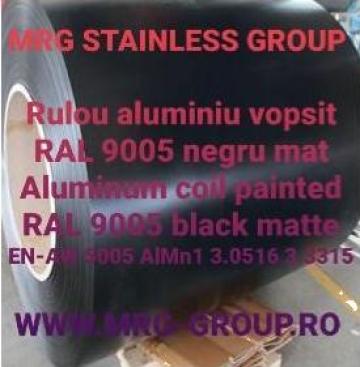 Rulou aluminiu vopsit 0.7x1000mm RAL 9005 negru mat AW 5005 de la MRG Stainless Group Srl