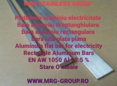 Platbanda aluminiu moale 20x10mm bara electricitate cupru de la MRG Stainless Group Srl