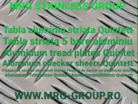 Tabla aluminiu striata Quintett 2.5x1500x3000mm