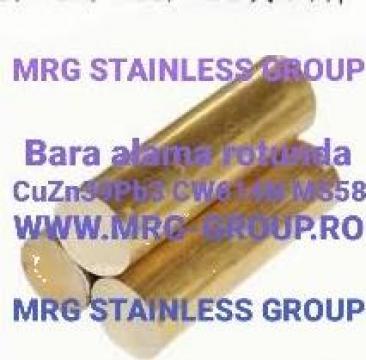 Bara alama rotunda 50x3000mm CuZn39pb3 CW614N MS58 aluminiu
