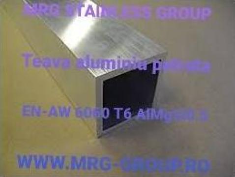 Teava aluminiu patrata 50x50x4mm
