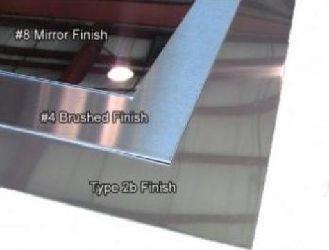 Tabla inox oglinda 0.4x1000x2000mm BAP BA BA+PVC lucioasa de la MRG Stainless Group Srl