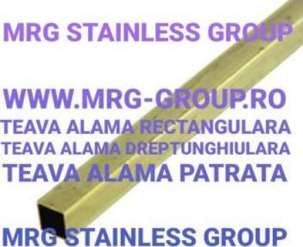 Teava alama patrata 20x20mm rectangulara Brass de la MRG Stainless Group Srl