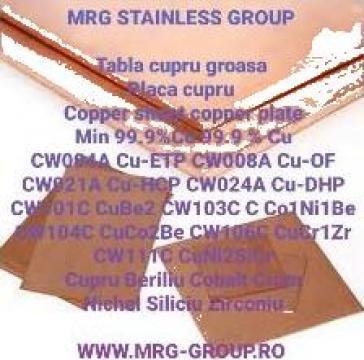 Tabla cupru 20mm placa cupru Copper plate 20mm copper sheet de la MRG Stainless Group Srl