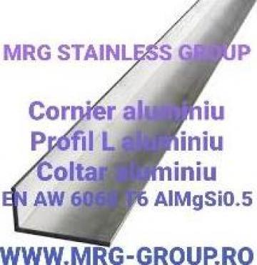 Profil L aluminiu 120x40x3mm cornier coltar alama inox