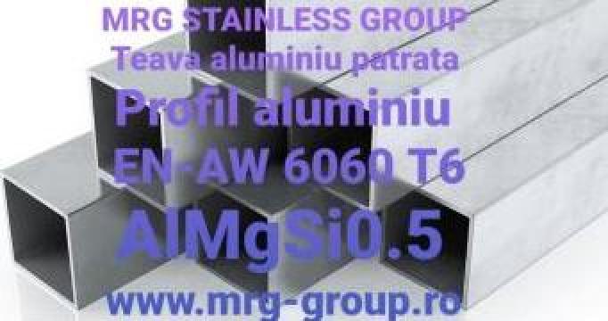 Teava aluminiu patrata 60x60x2mm, rectangulara tabla, bara