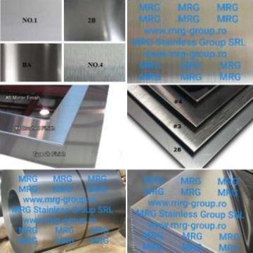 Tabla inox 1mm lisa oglinda satinata Scotch Brite Striata de la MRG Stainless Group Srl