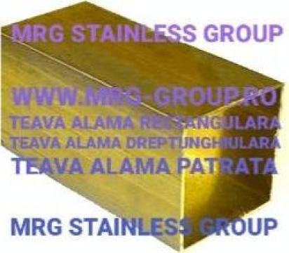 Teava alama patrata 40x40mm rectangulara de la MRG Stainless Group Srl
