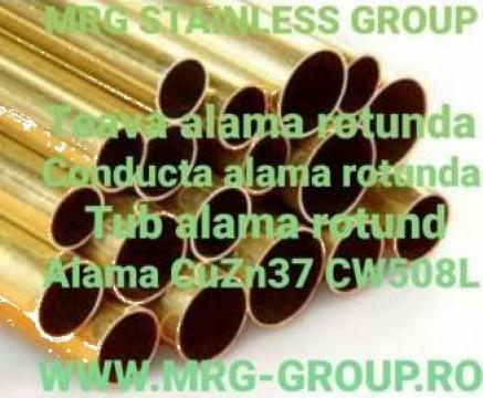 Tevi alama rotunde-rectangulare-profilate extrudate CuZn37 de la MRG Stainless Group Srl