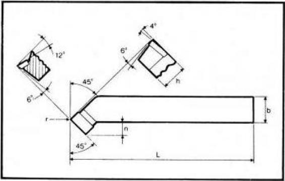 Cutite strung incovoiate pentru degrosat ISO 2 - DIN 4972 de la Proma Machinery Srl.