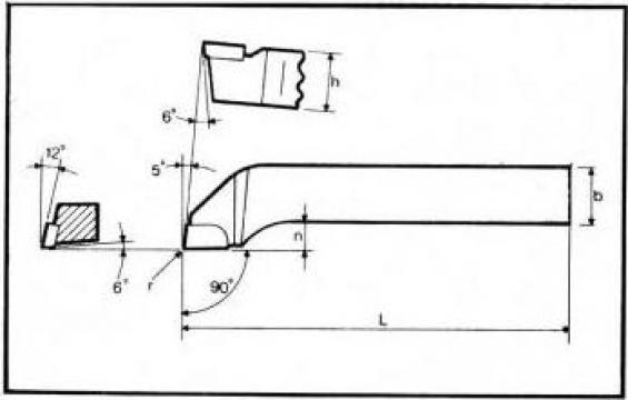 Cutite strung lateral ISO 6 - DIN 4980 de la Proma Machinery Srl.
