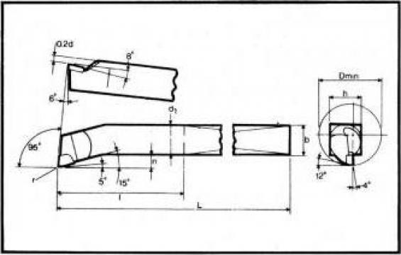 Cutite strung pentru interior ISO 9 - DIN 4974 de la Proma Machinery Srl.