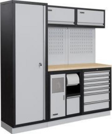 Mobilier modular pentru atelier A007I de la Proma Machinery Srl.