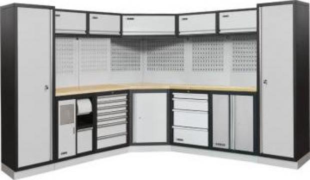 Mobilier modular pentru atelier A007L de la Proma Machinery Srl.