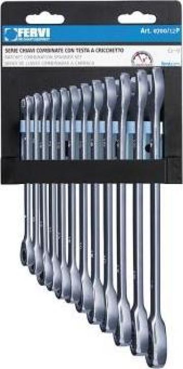 Set de chei combinate 8-19 mm cu clichet 0700/12P de la Proma Machinery Srl.