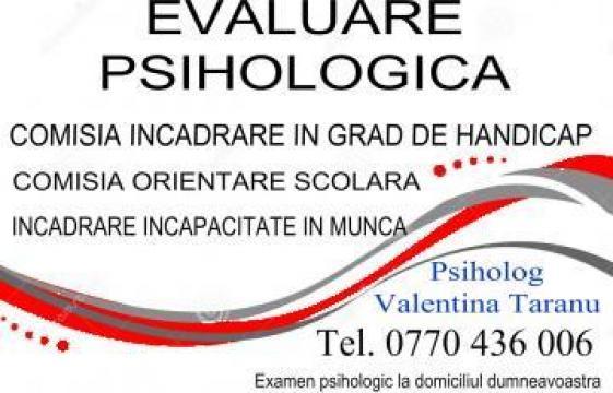 Servicii psiholog copii in Ovidiu de la Cabinet Individual De Psihologie Valentina Taranu