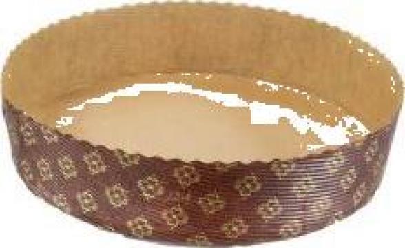 Forma din carton pentru copt pasca P200/45 de la Cristian Food Industry Srl.