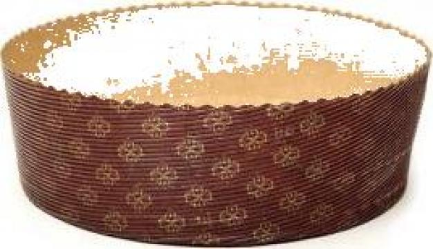 Forma din carton pentru copt pasca P200/65 de la Cristian Food Industry Srl.