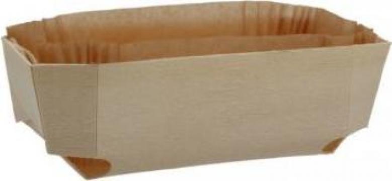 Forma din lemn pentru copt cozonac 185x115x60mm 100 buc/bax de la Cristian Food Industry Srl.