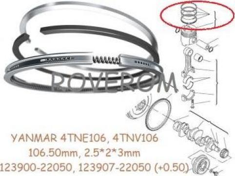 Segmenti piston +0.50,Yanmar 4TNV106, Komatsu 4D106 106.50mm