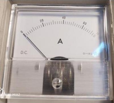 Ampermetru analogic, 75A, DC, 80 x 80 mm, KM-86