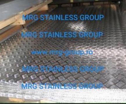 Tabla aluminiu striata 5 bare 1.5x1250x2500mm AW 1050A
