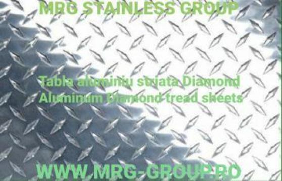 Tabla aluminiu striata Diamant 1.5x1000x2000mm foaie coala