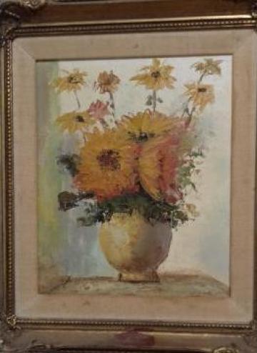 Tablouri ulei Vaza cu floarea soarelui Vincent van Go de la Solarduobest Srl