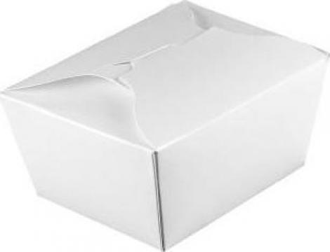 Cutie medie carton alb mancare chinezeasca de la Cristian Food Industry Srl.