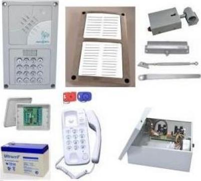 Kit interfon pentru 12 apartamente Resel de la Prosystem Srl