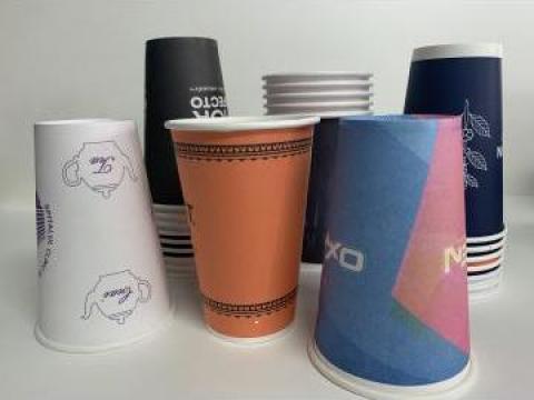 Pahare de carton personalizate 12Oz - 330 ml de la Spot Cups Srl