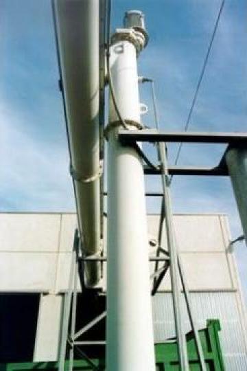 Transportoare cu snec elicoidale verticale pentru namol de la Proconsil Grup Iasi