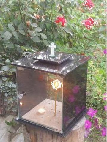 Felinar lumanari cimitir candela granit de la