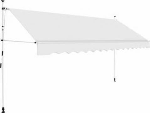Copertina retractabila manual, crem, 350 cm
