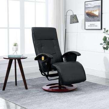 Fotoliu electric pentru masaj negru de la Vidaxl