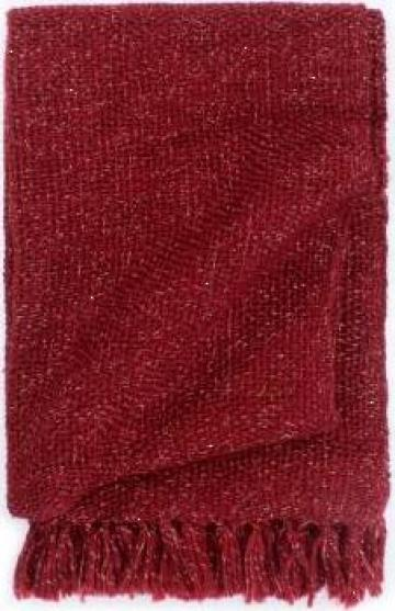 Patura decorativa, rosu burgund, 160 x 210 cm, lurex de la Vidaxl