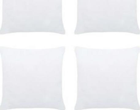 Umpluturi de perne, 4 buc., alb, 30 x 30 cm de la Vidaxl