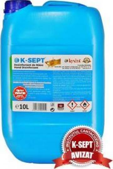 Dezinfectant de maini K-Sept 10L avizat de la Kynita Srl