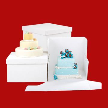 Cutii albe tort 20x20xh25cm 10 buc/set de la Cristian Food Industry Srl.