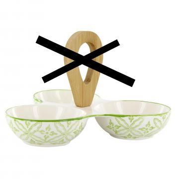 Recipiente servire snacksuri, verde, 3 buc de la Plasma Trade Srl (happymax.ro)
