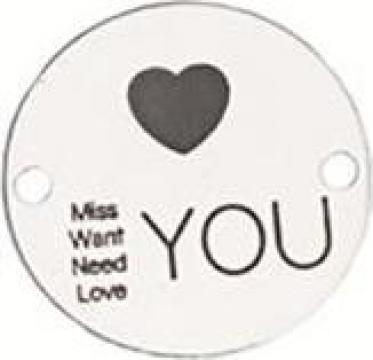 Bratara Miss Want Need Love You, banut Argint 925
