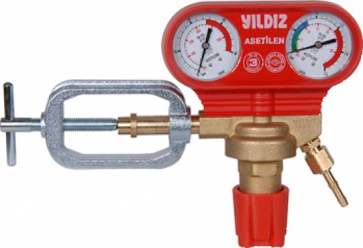 Reductor presiuneAcetilena 25/1,5 bar 35m3/h Yildiz de la Sudometal Srl