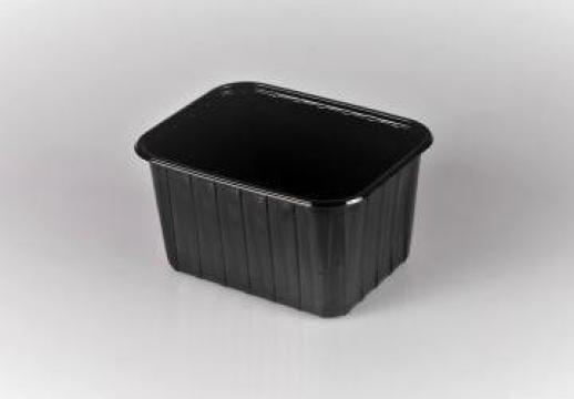 Caserola premium neagra fructe 1000g fara capac 900 buc/bax de la Cristian Food Industry Srl.