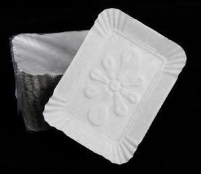 Tavite albe prajituri T4 (13,5x16,5cm) 100 buc/set de la Cristian Food Industry Srl.