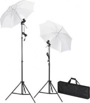 Kit lumini studio foto, tripoduri + umbrele