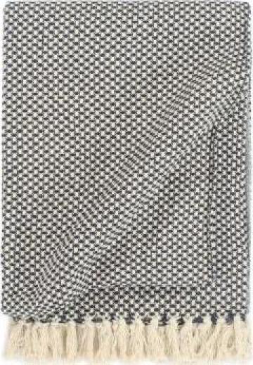Patura decorativa, bleumarin, 220 x 250 cm, bumbac de la Vidaxl