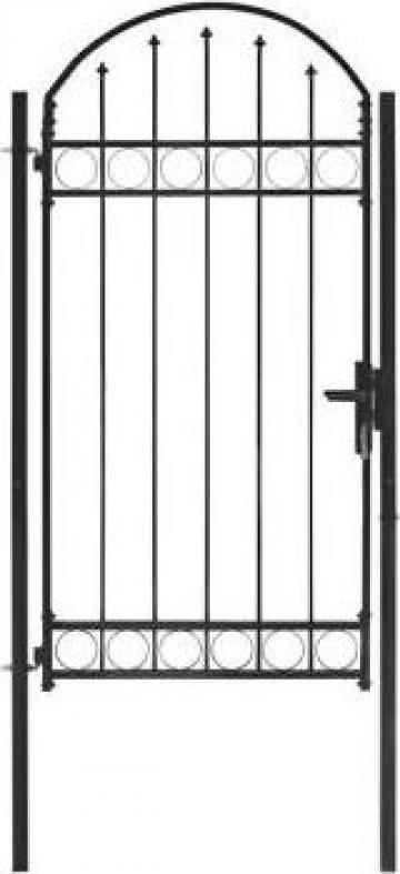 Poarta de gard cu arcada, negru, 100 x 250 cm, otel de la Vidaxl