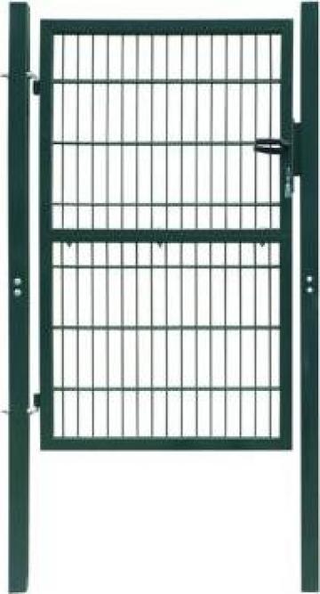 Poarta de gard, verde, 103 x 250 cm, otel de la Vidaxl