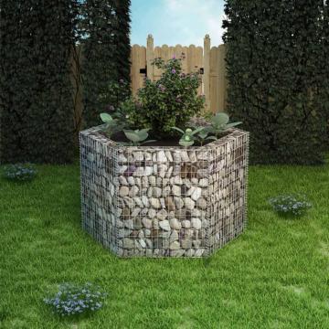 Strat inaltat gabion hexagonal, 160 x 140 x 100 cm